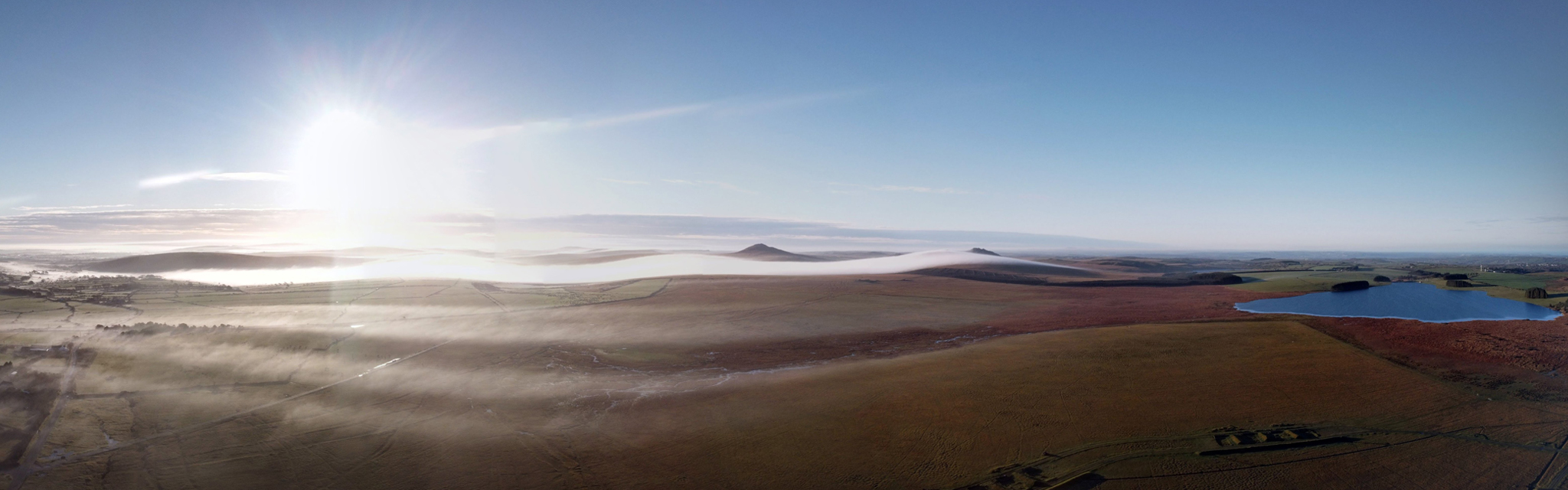 Panoramic view of Bodmin Moor in North Cornwall
