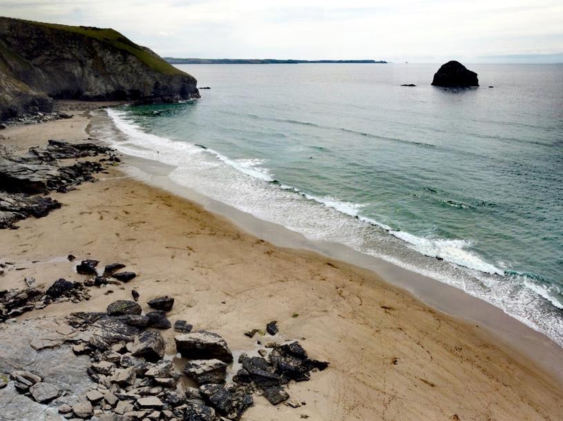 Trebarwith Strand, a fantastic surfing beach in North Cornwall